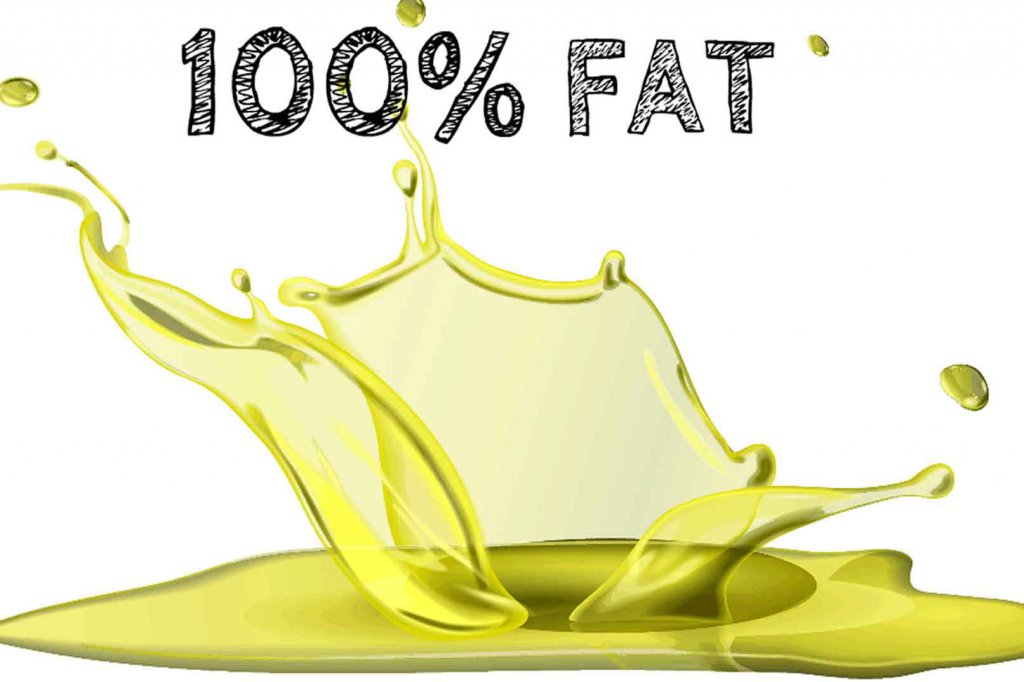Splashed oil, 100% Fat