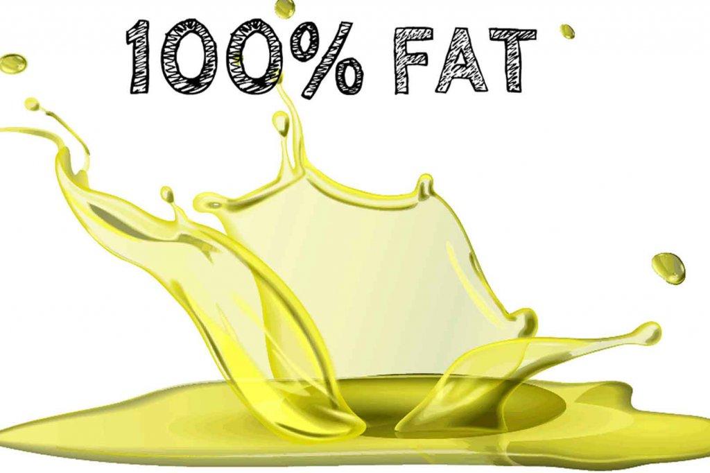 Splashed oil, 100% Fat