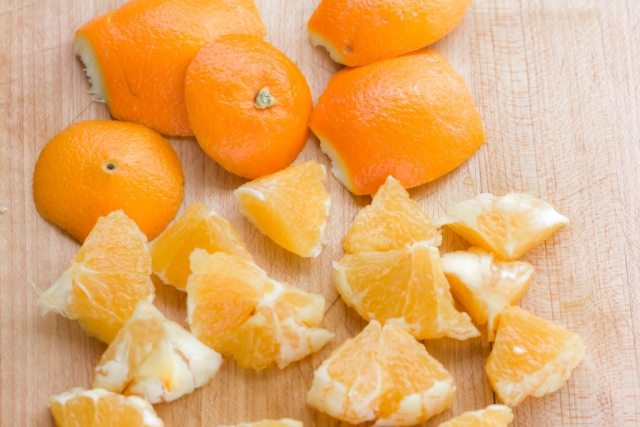 #2 Peel, slice and cut orange into wedges