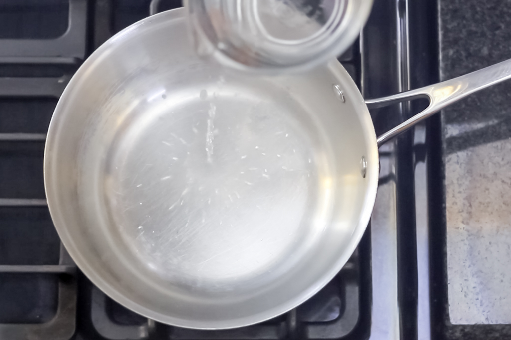 #8 Test the medium heated pan