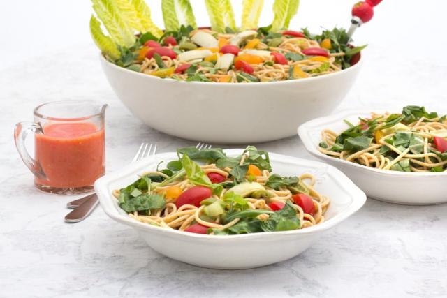 #13 Sunburst Tomato & Noodle Salad is ready to serve.